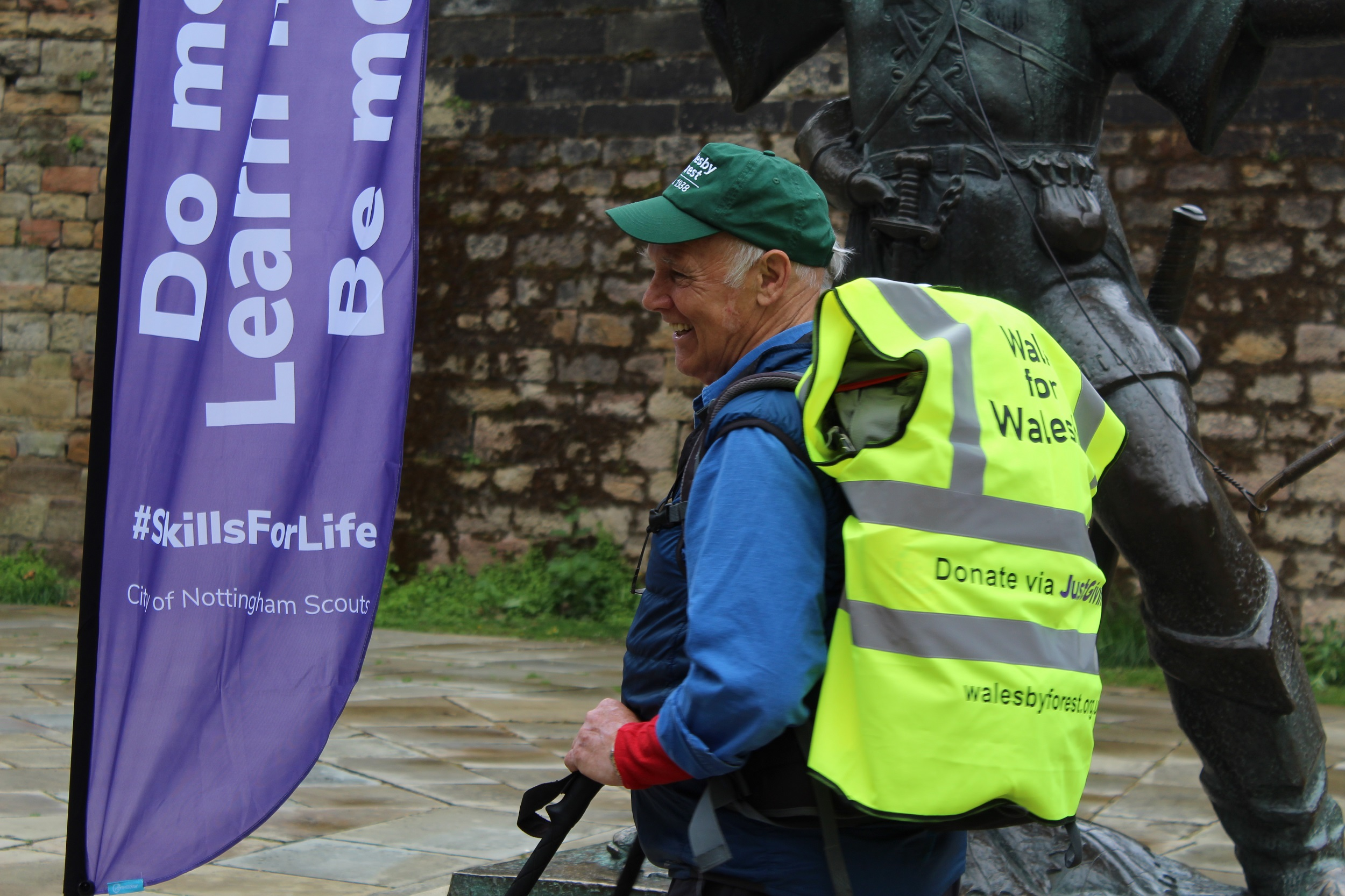 WALESBY FOREST PRESIDENT SETS OFF ON 108-MILE WALK TO RAISE VITAL FUNDS FOR THE CENTRE