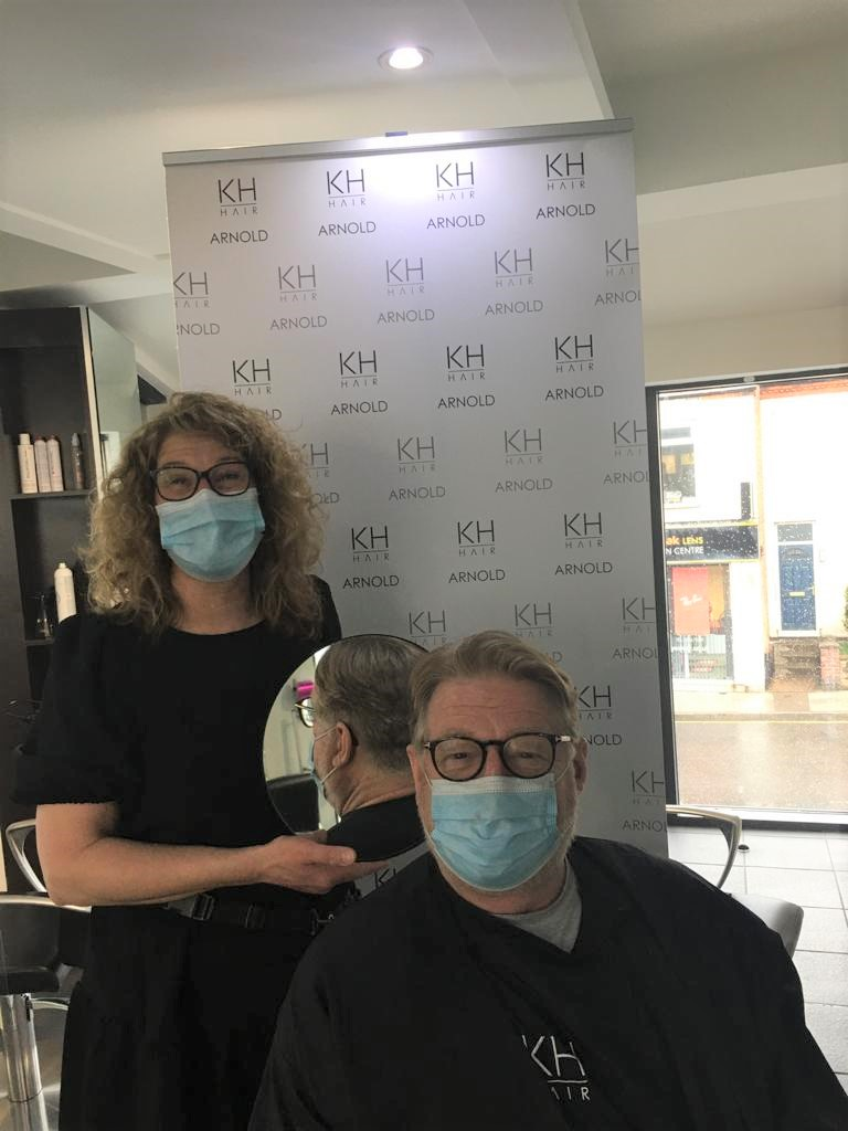 Arnold hair salon makes the cut for children's cancer charity