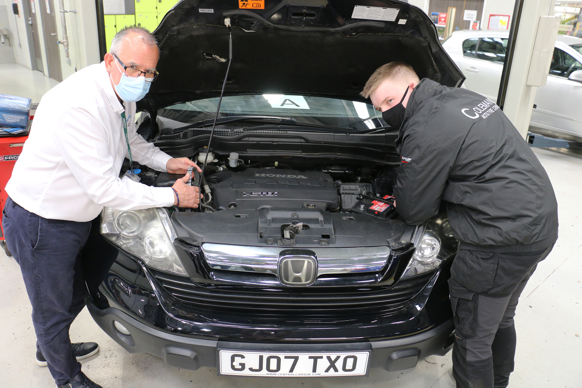 Trainee mechanics have great new skills under their belts