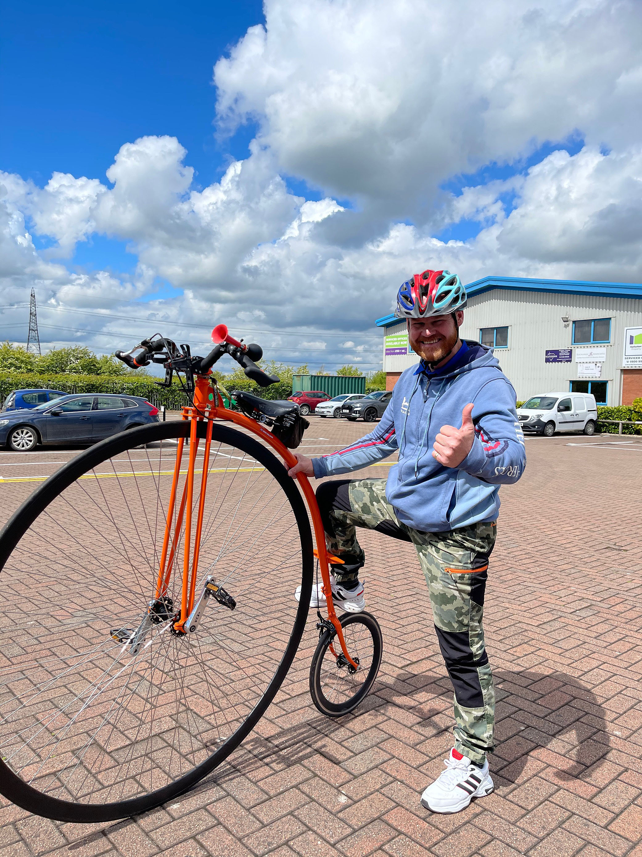 'On your bike'… or should we say 'On your Penny Farthing'