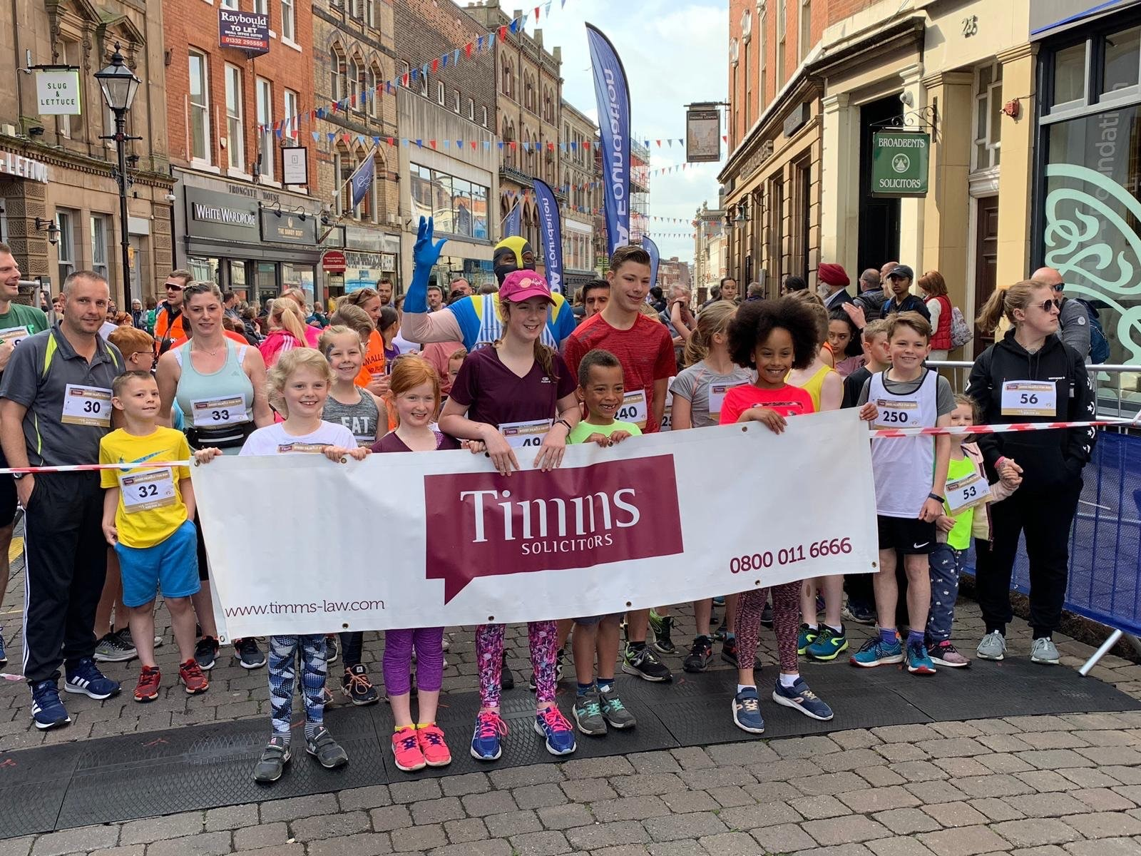Timms Solicitors Support Derby Family Fun Run