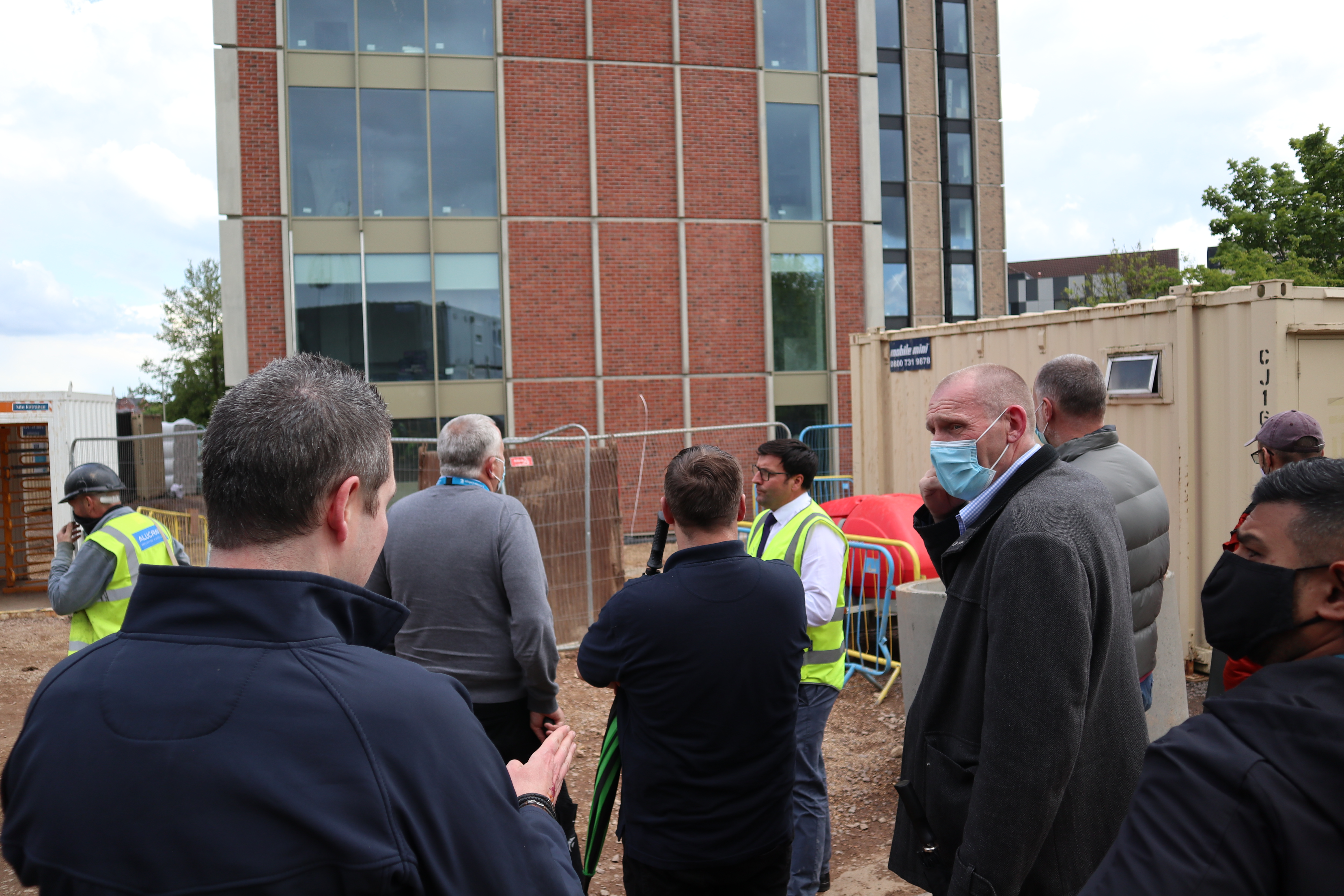 Leicester College staff go 'back to school' on major local construction project