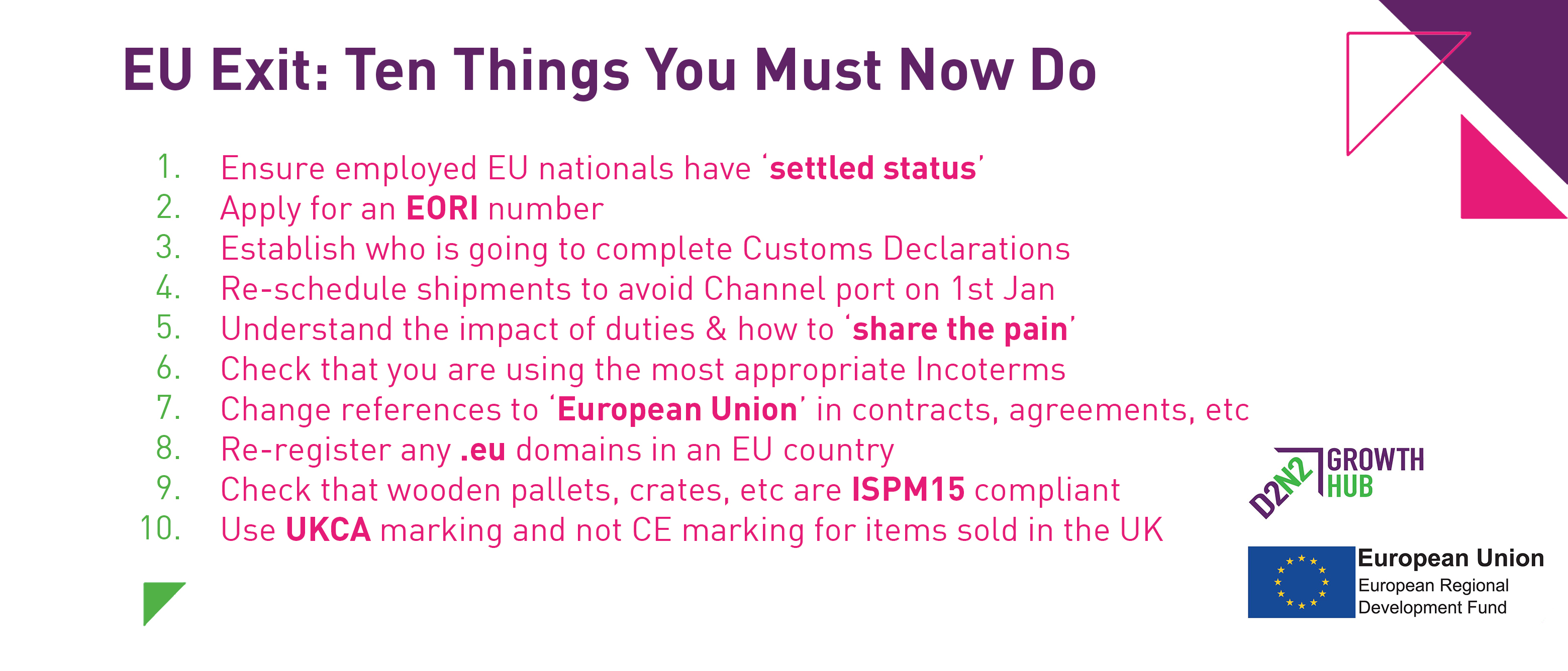 Want to prepare your business against the upcoming EU Exit?