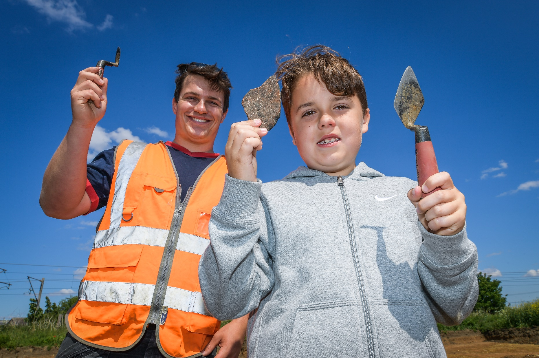 School pupils brush up on local history with archaeology visit in Newark
