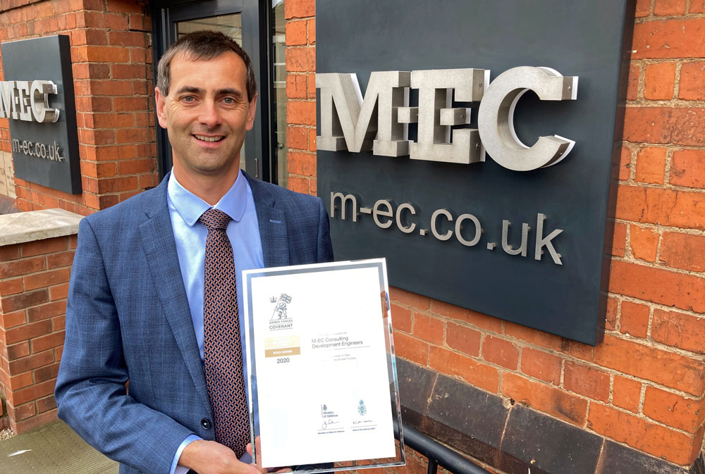 Engineering consultancy retains Armed Forces Employer Recognition Scheme Gold Award