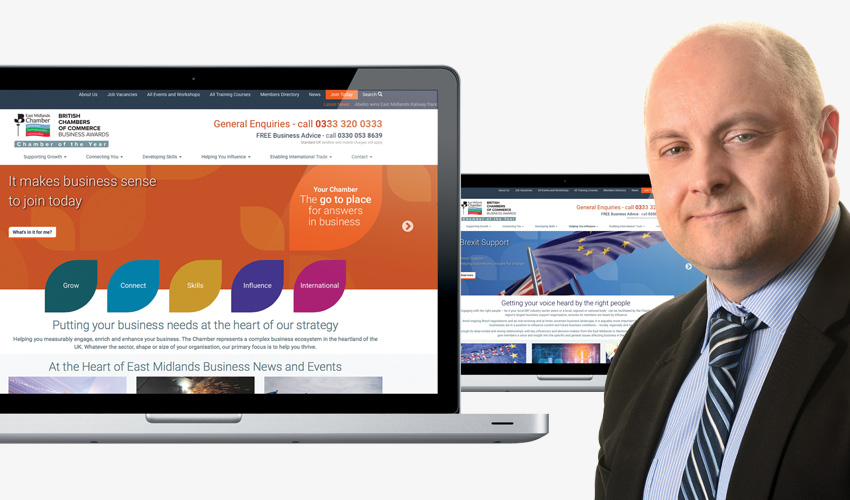 Quiet Storm help to evolve the online presence of East Midlands Chamber, to deliver even more value to members