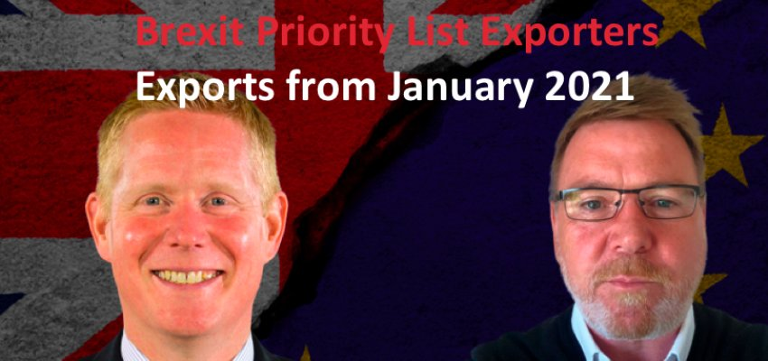 BREXIT PRIORITY LIST – EXPORTS FROM JANUARY 2021
