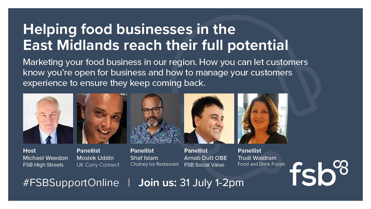 Marketing event to help online food businesses in East Midlands reach their potential