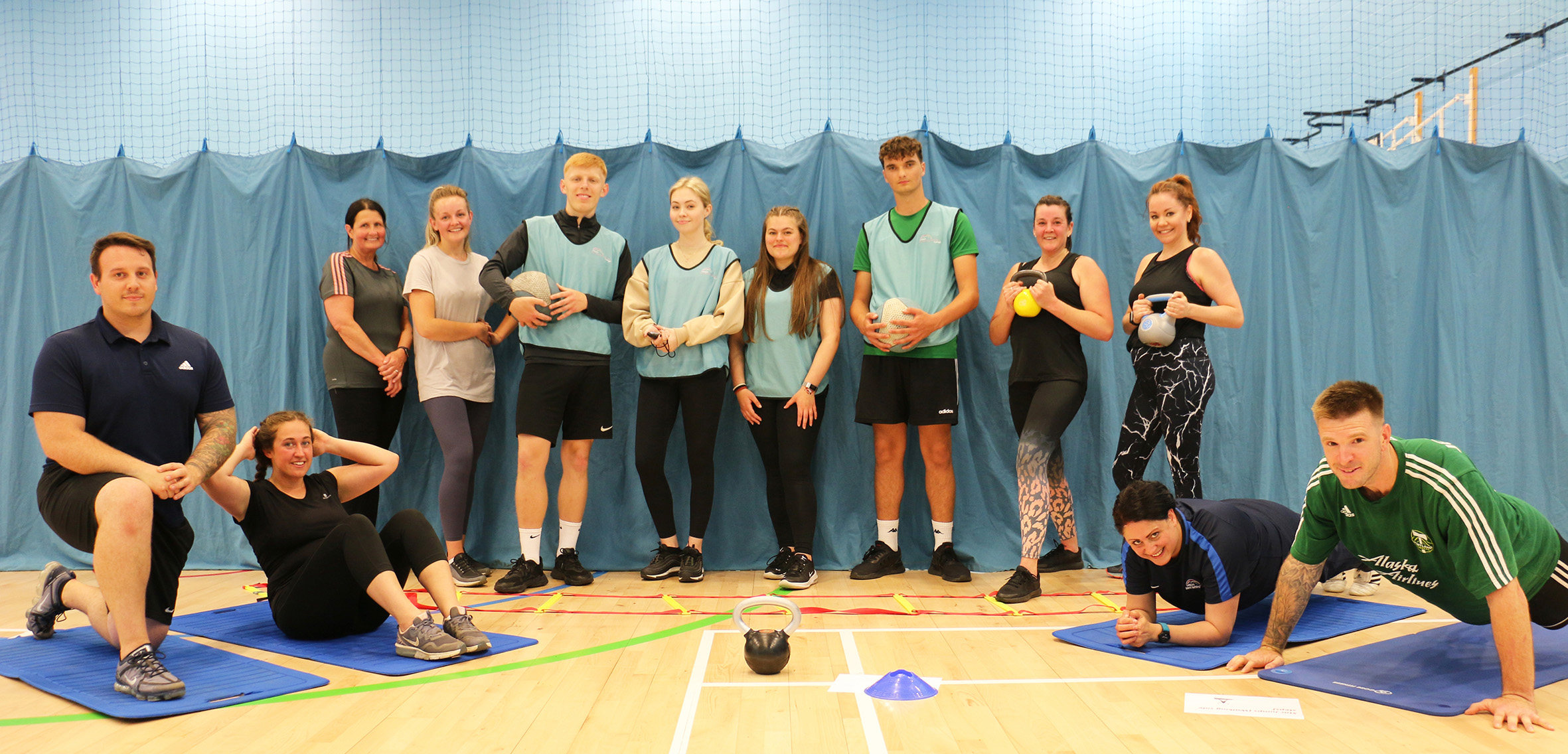 College staff put through fitness paces by sport students