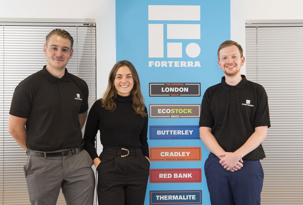 Trainee trio joins masonry manufacturer on management graduate scheme