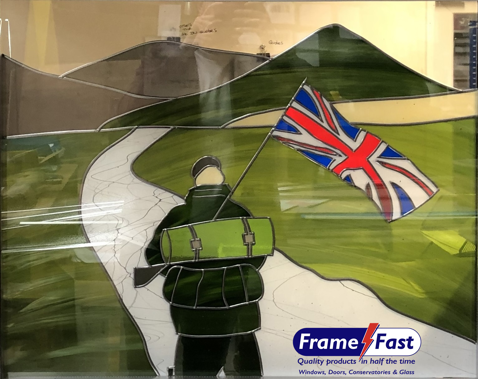 Stunning stained-glass window created by Frame Fast to mark the centenary of the end of the First World War