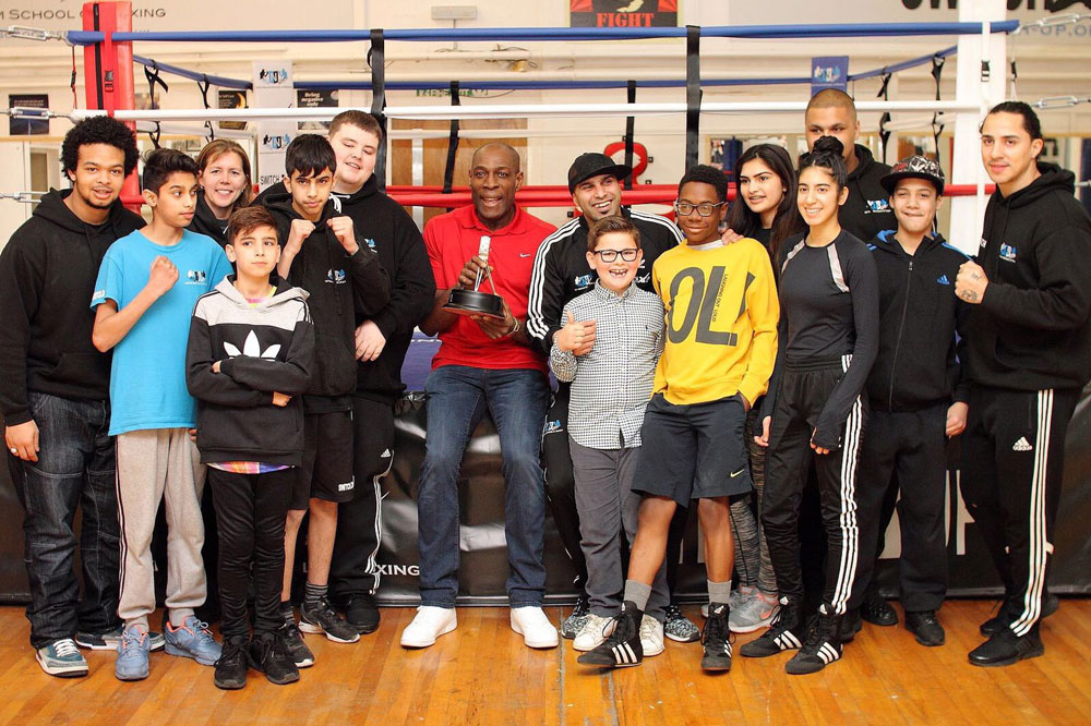 Boxing legend Frank Bruno teams up with Nottingham charity to battle knift crime