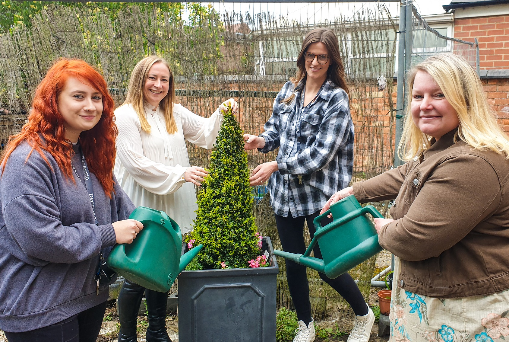 Floral display all set to brighten lives and raise spirits at Derventio Housing Trust's Junction