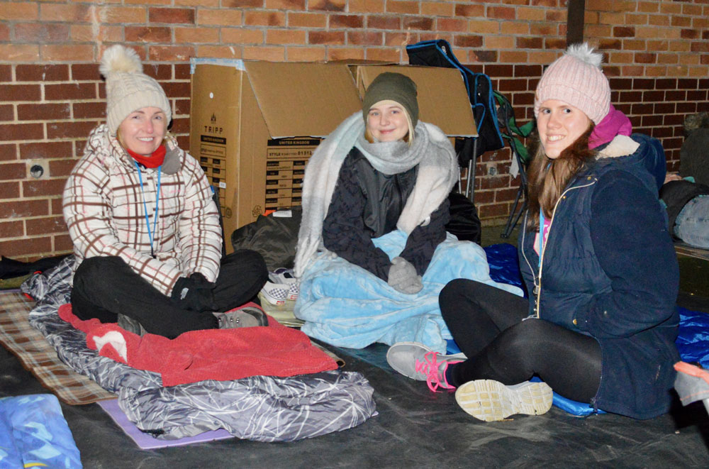 Hinckley & Rugby sleep out raises £3,000 for homeless