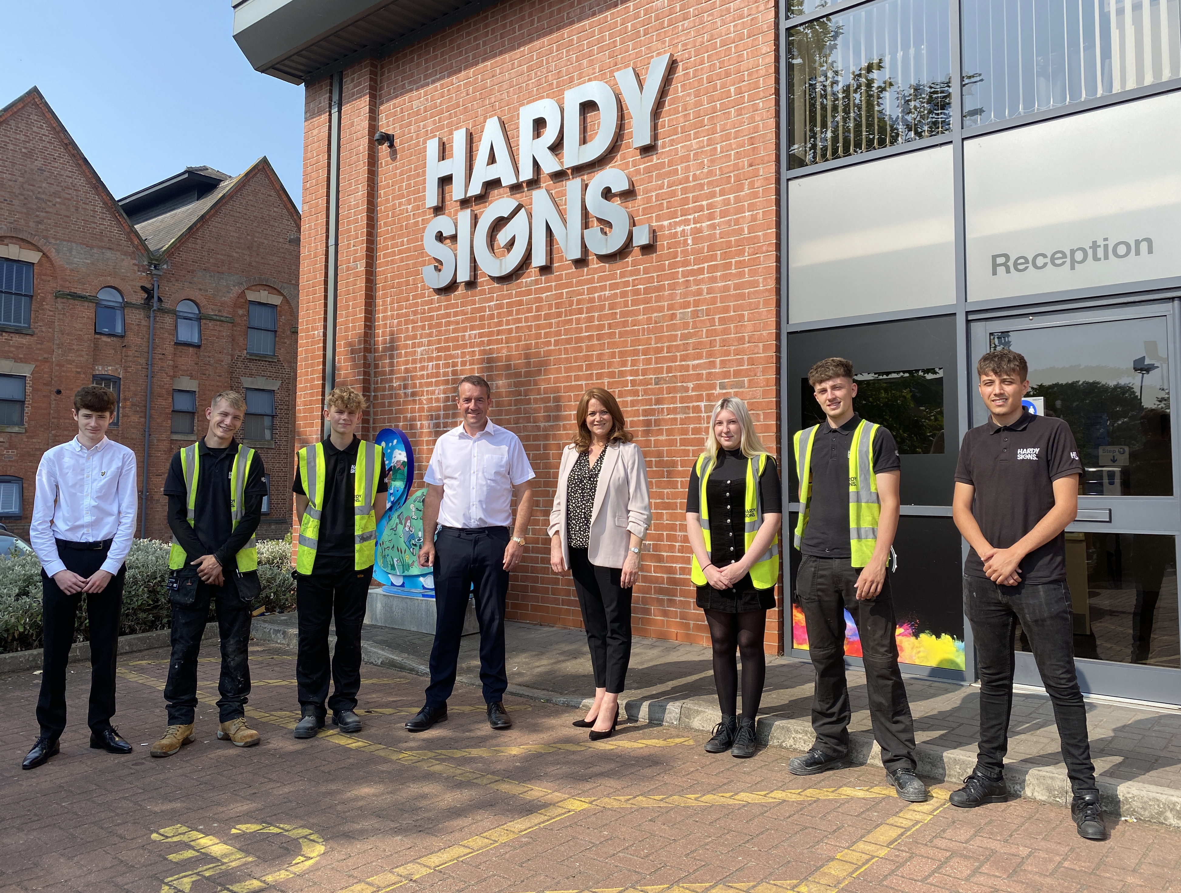 Kate Griffiths MP joins Hardy Signs celebration