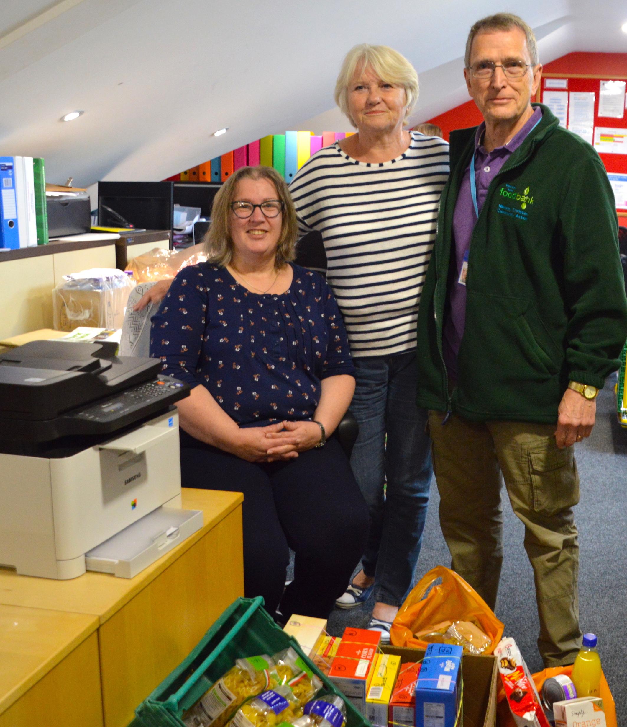 Society's printer gift for Hinckley Area Foodbank