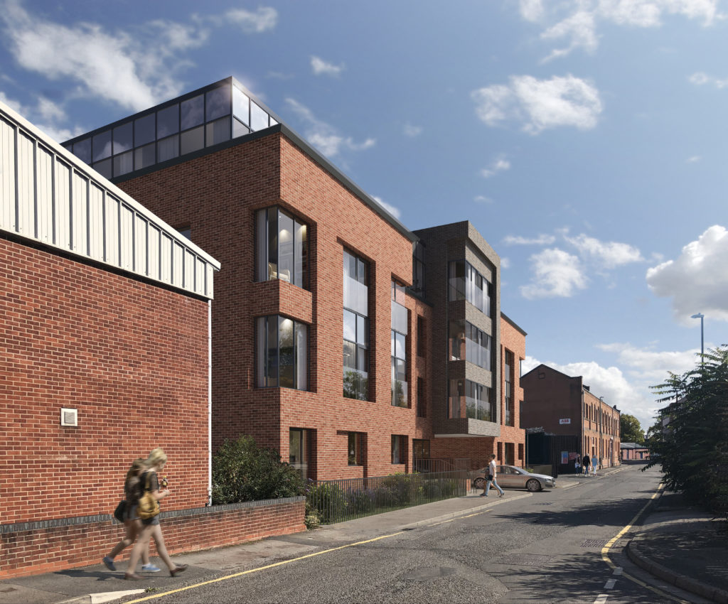 Works progress on modern city apartments with 75% of homes already sold