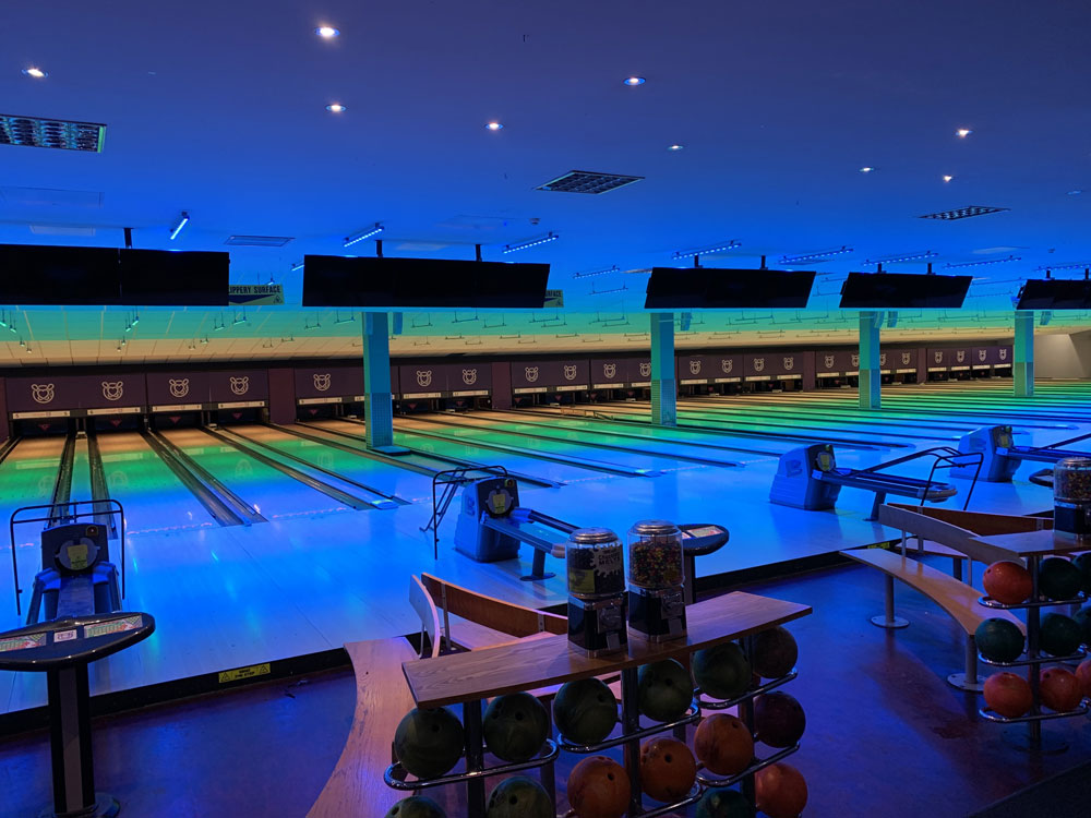 Ventola Projects Light Up Cambridge Tenpin Entertainment Facility