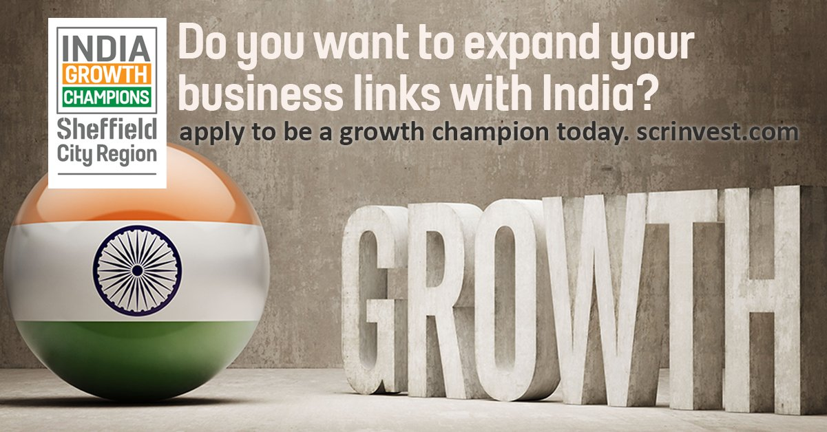 SHEFFIELD CITY REGION LAUNCHES NEXT PHASE OF INDIA GROWTH CHAMPIONS SCHEME