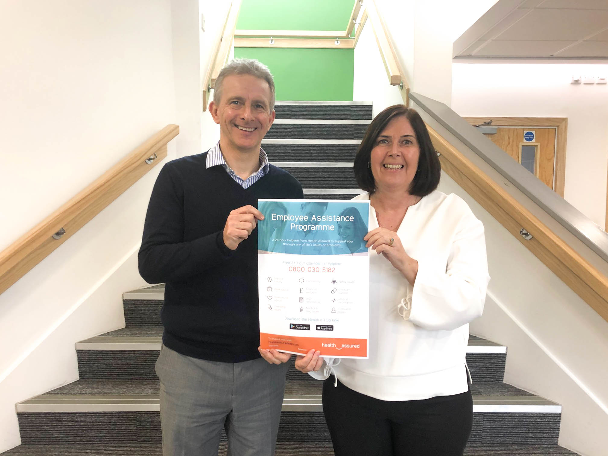 J Tomlinson supports staff with employee assistance programme