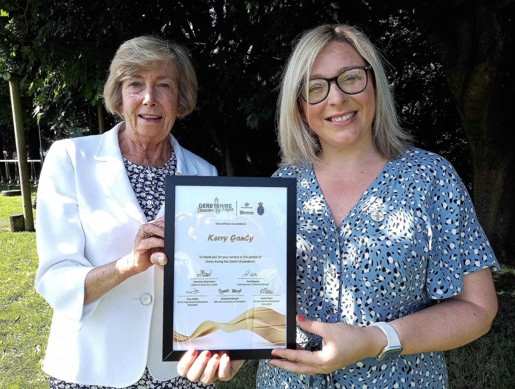 Penguin PR's community hero Kerry is at the heart of the story as she receives a Beacon of Hope Award