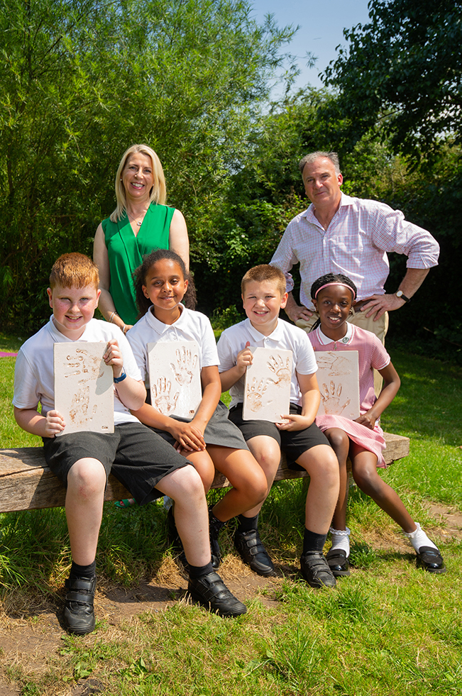 NOTTINGHAM CHILDREN 'HAVE A HAND' IN THE FUTURE OF THE ISLAND QUARTER