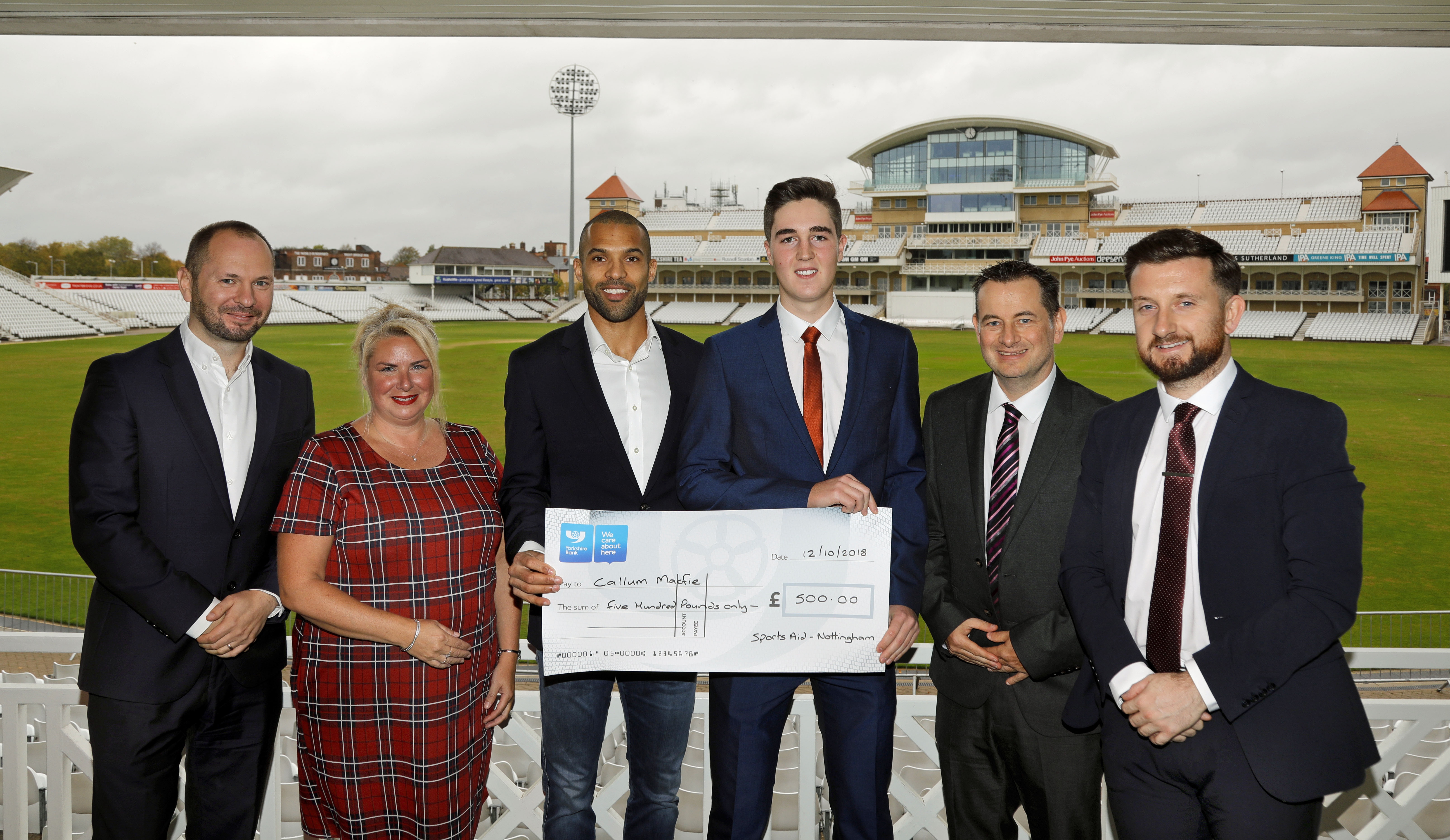 Up-and-coming golf star receives support at SportsAid charity lunch