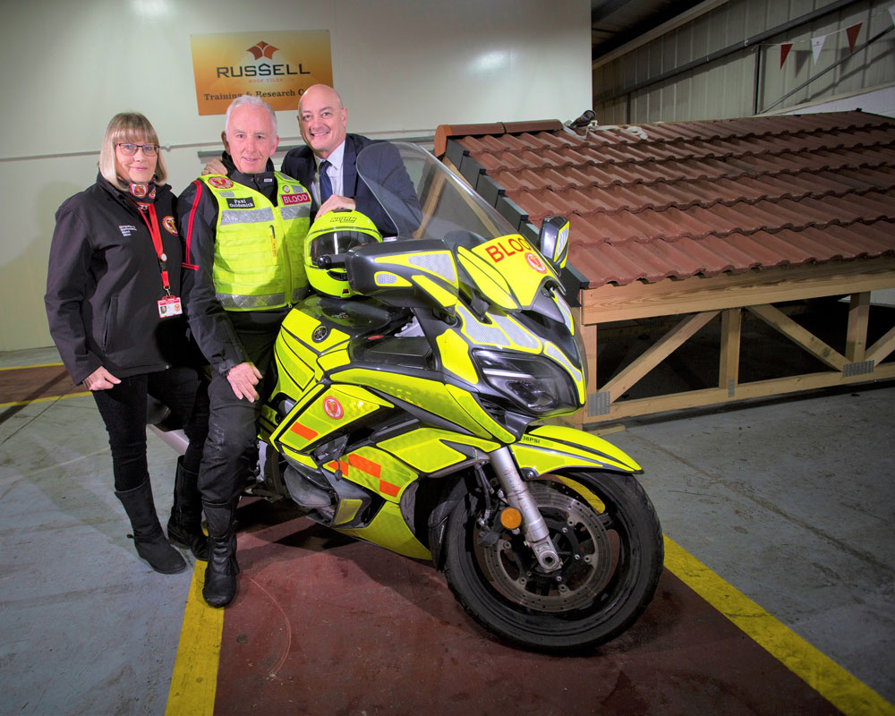 Charity rides high with Russells donation
