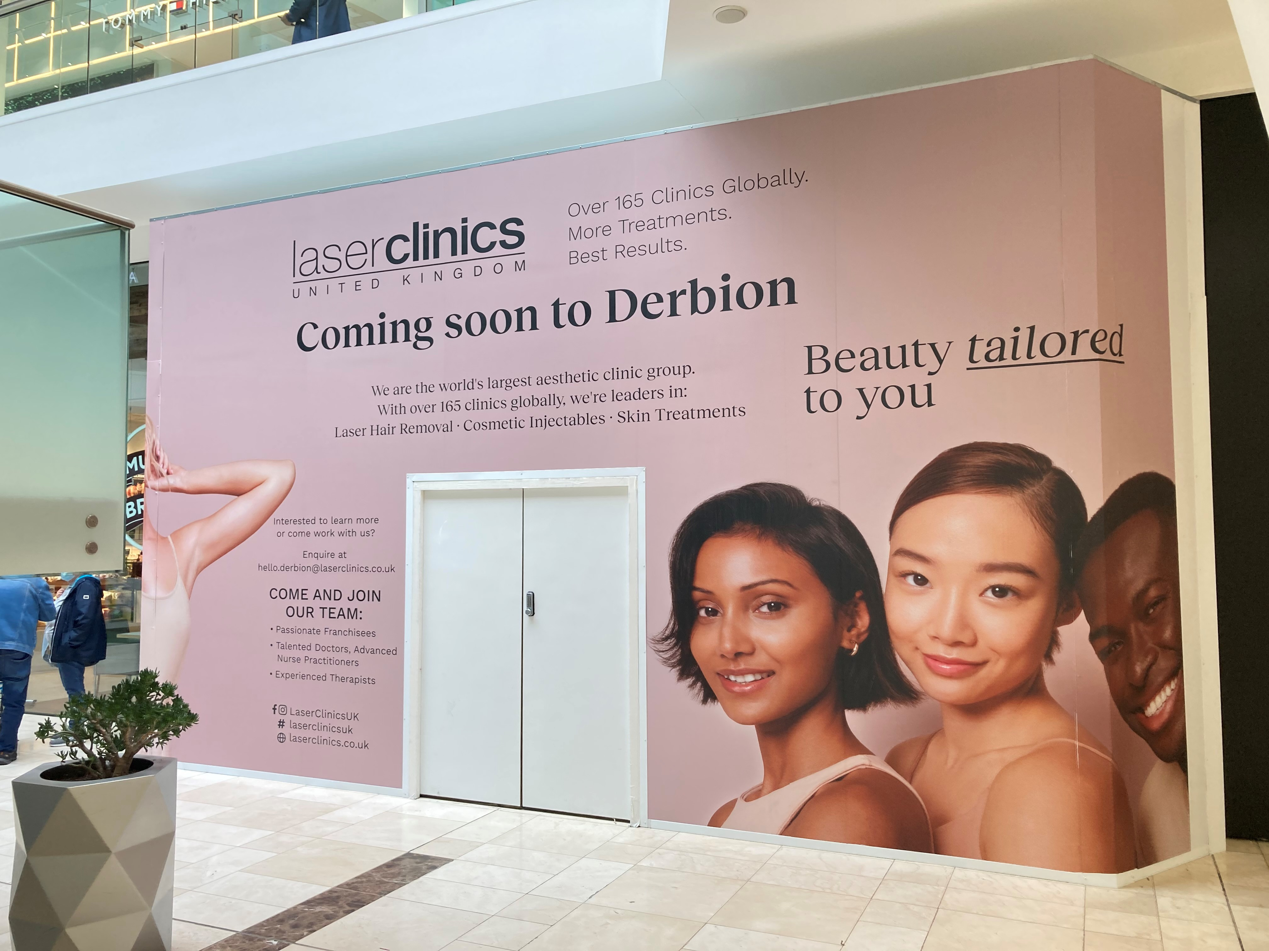 Derby's favourite retail and leisure destination, Derbion, is set to welcome a brand-new feel-good venue to the centre, with the arrival of Laser Clinics.