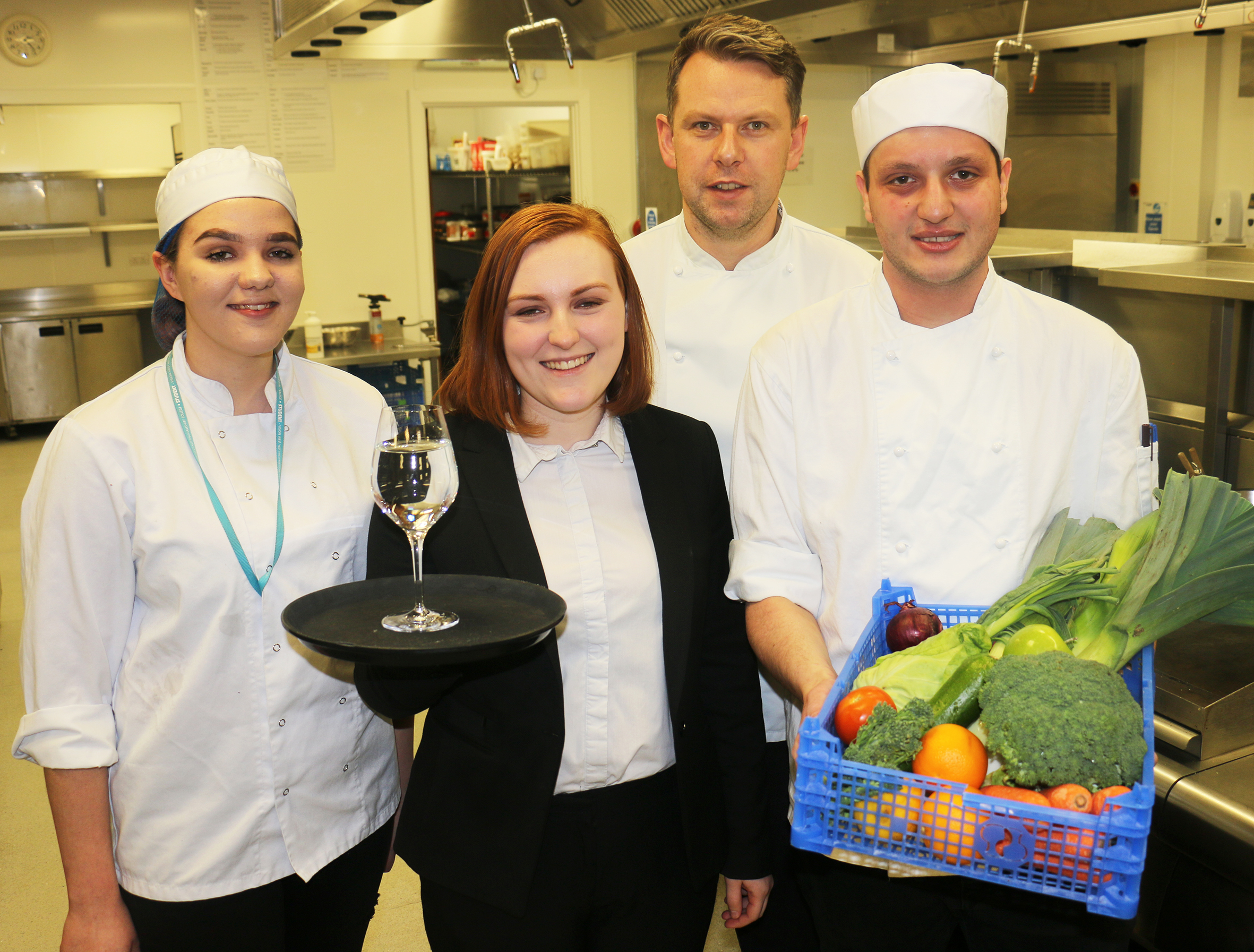 Catering and hospitality students turn the heat up for national challenge