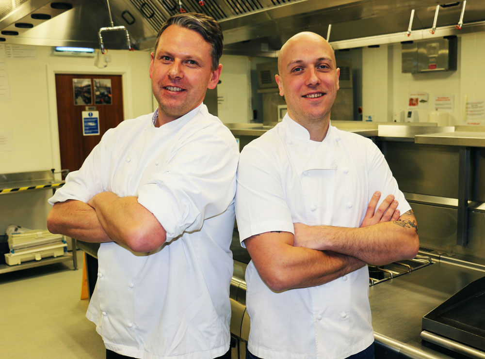 Chef returns to his roots for students' fine dining event