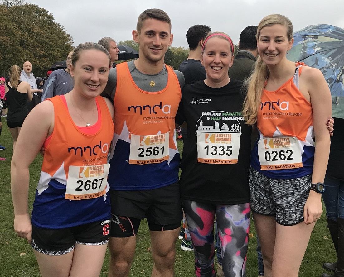 Howes Percival Leicester Half Marathon team raise over £1,000 for MNDA