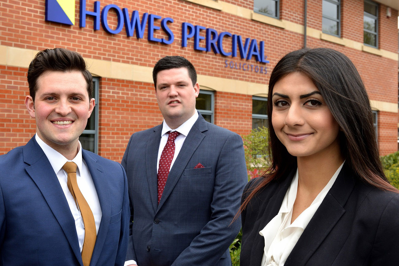 Trio of appointments for Howes Percival's Leicester office