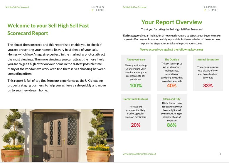 HOUSE SELLERS WIN BIG WITH HOME STAGING COMPANY'S NEW SCORECARD SERVICE