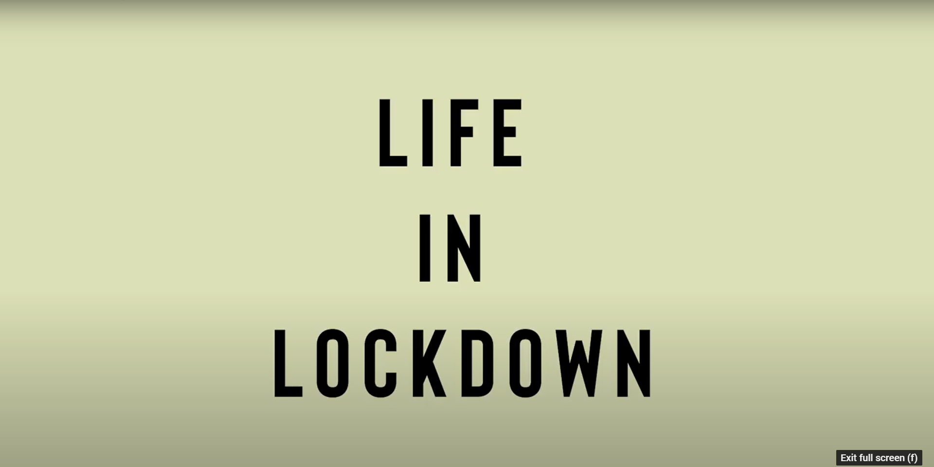 Life in lockdown – captured on film