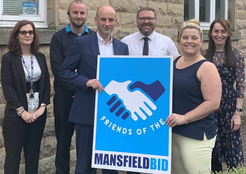 Churchside Insurance makes friends with Mansfield BID