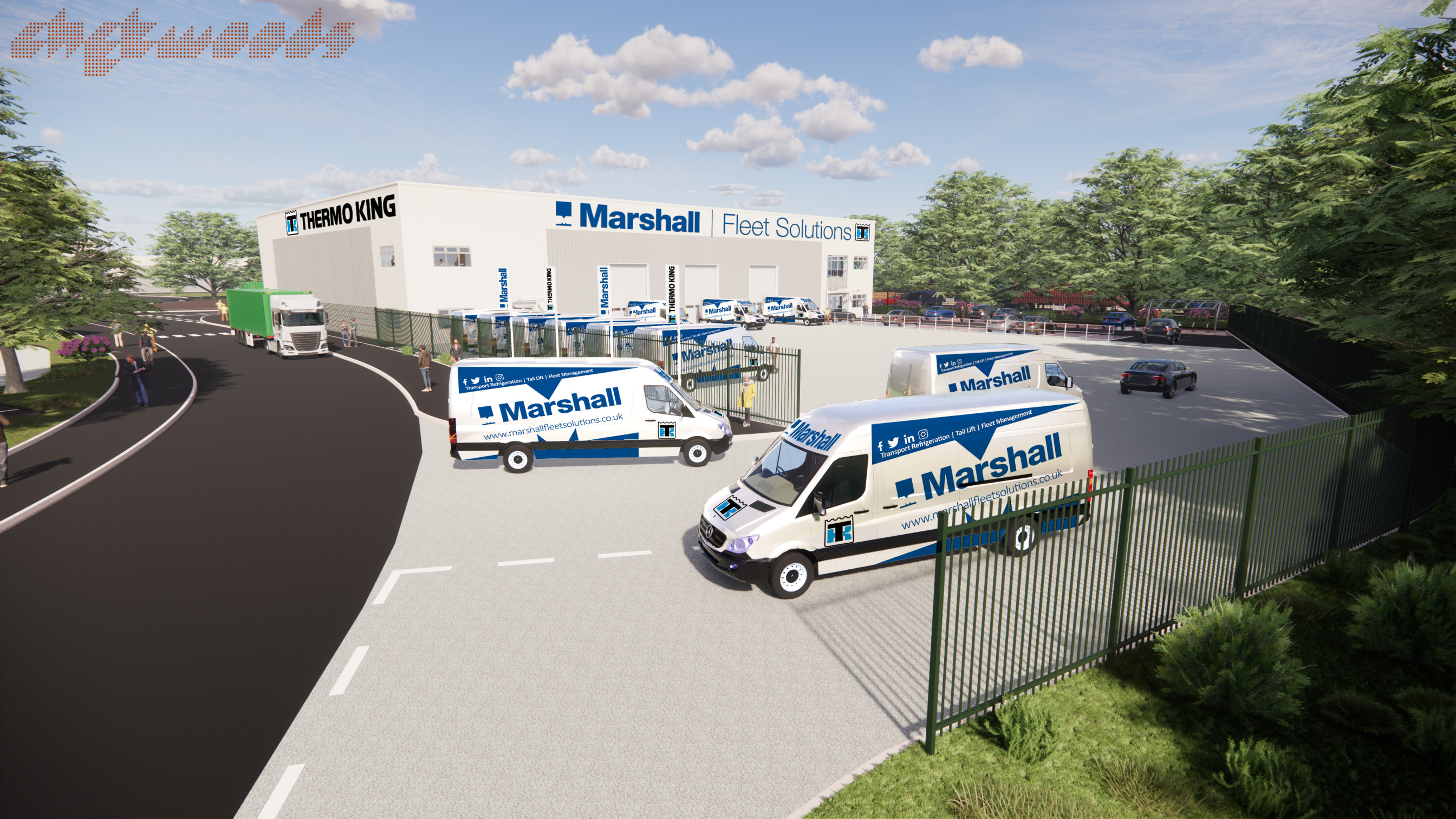 Marshall Fleet Solutions invests in brand new state-of-the-art Midlands Depot and another significant 24/7 service facility for Thermo King