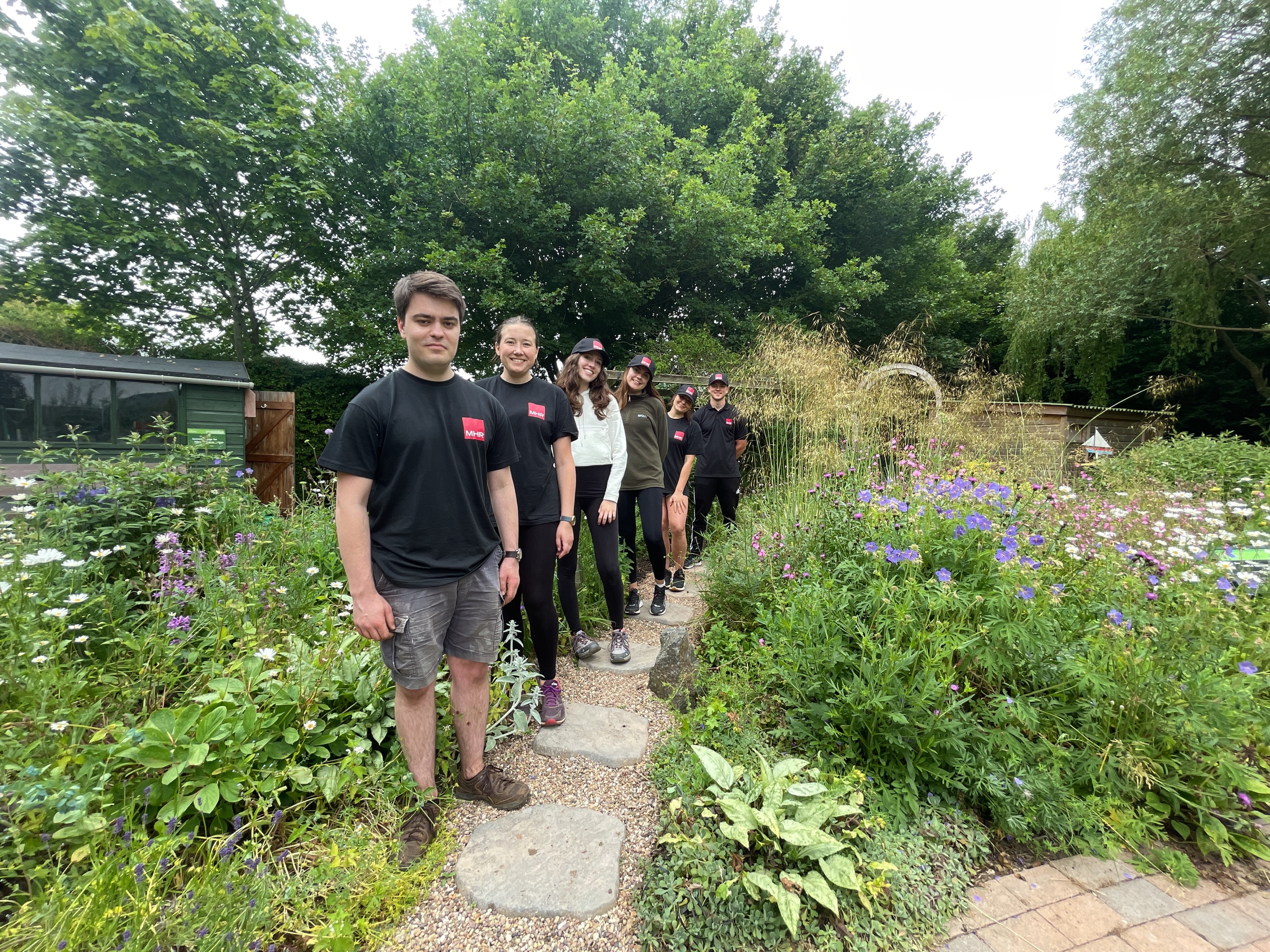 Notts HR firm graduates get green fingered at Rainbows