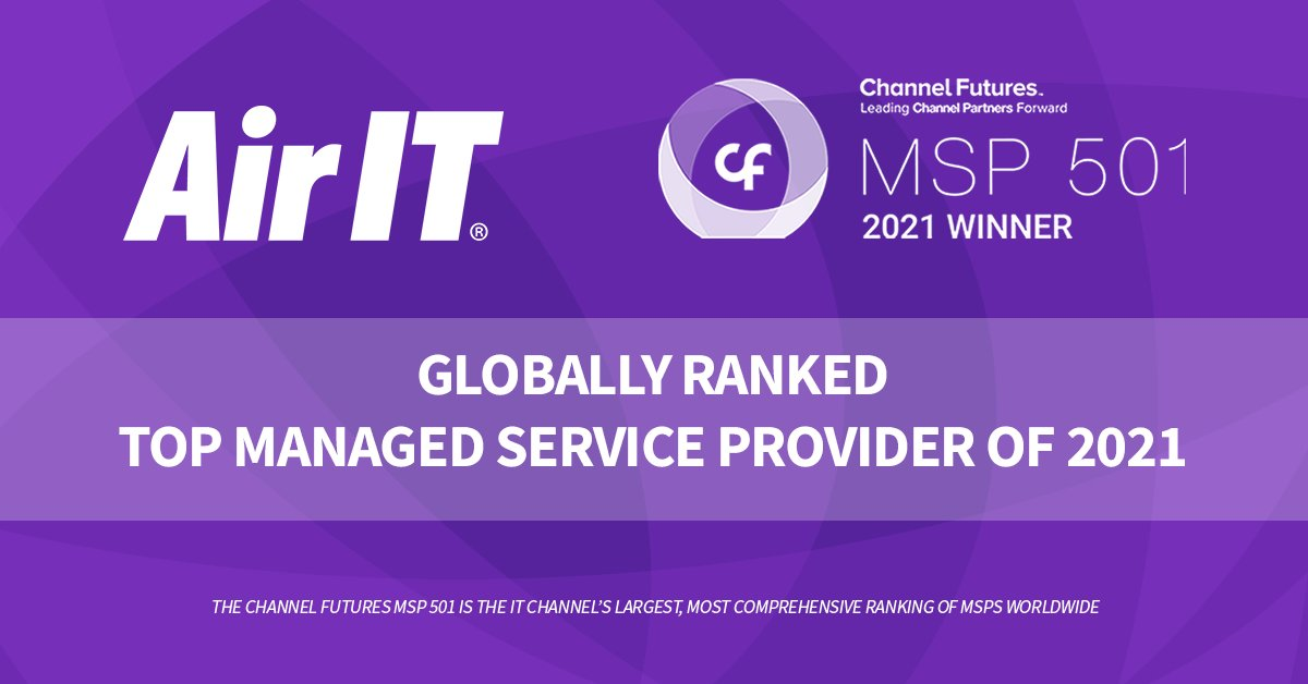 Air IT ranked one of top 3 MSPs in the UK