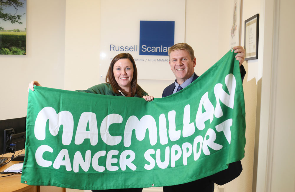 Russell Scanlan Selects Macmillan Cancer Support as Charity of the Year