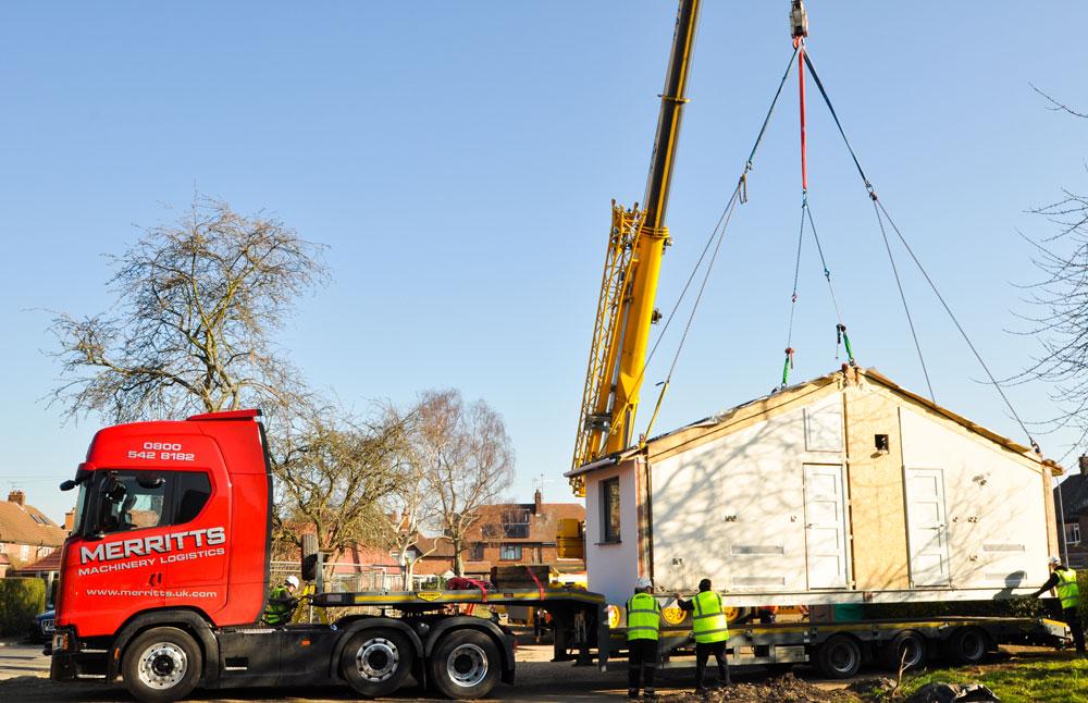 Merritts Launch Modular Housing Transportation & Installation Service