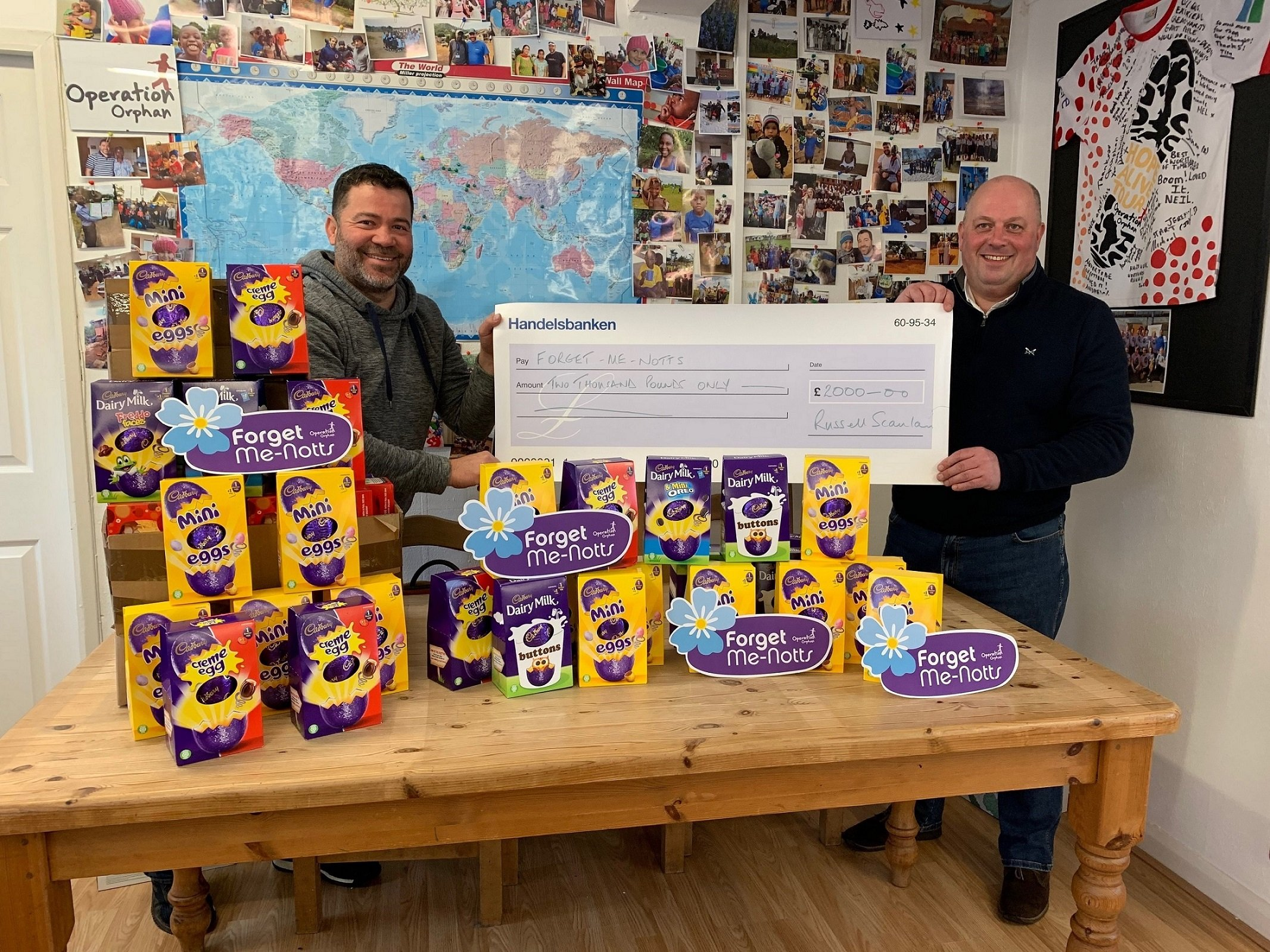 Russell Scanlan presents egg-cellent total to charity - Love