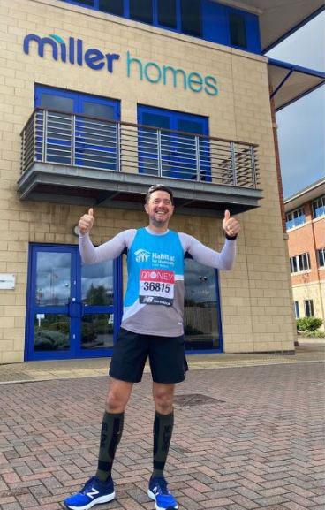 Derbyshire man raises almost £3,500 in 'virtual' London Marathon