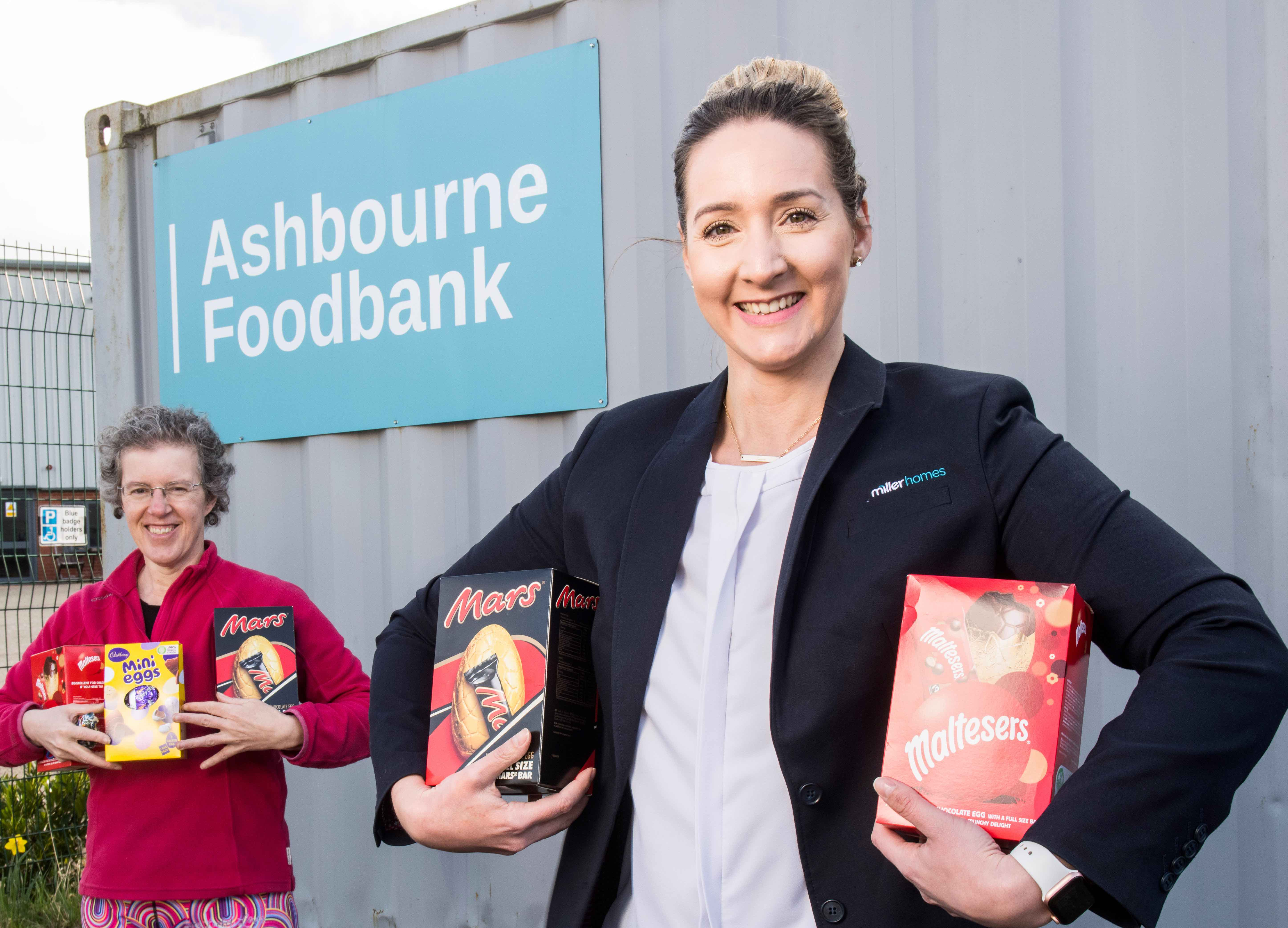 MILLER HOMES MAKES EGG-CELLENT DONATION TO THE ASHBOURNE FOOD BANK