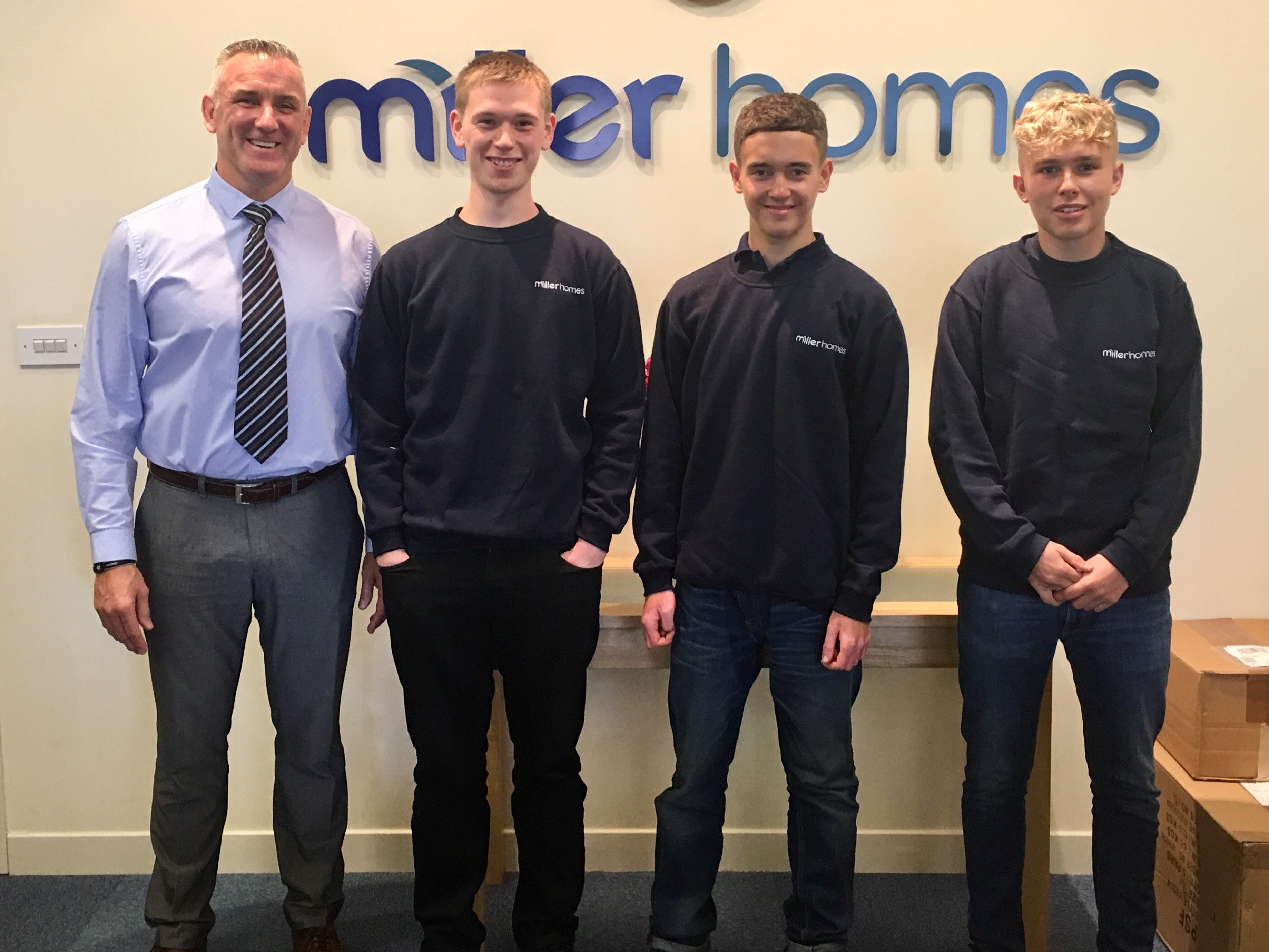 Laying the foundations for Miller Homes' new apprentices