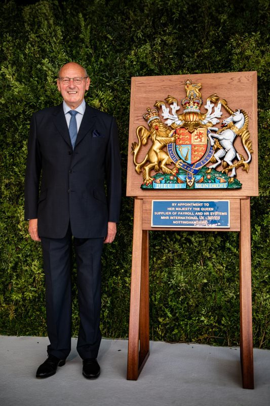 Royal Warrant of Appointment to Her Majesty The Queen granted to John Mills of MHR International UK Limited