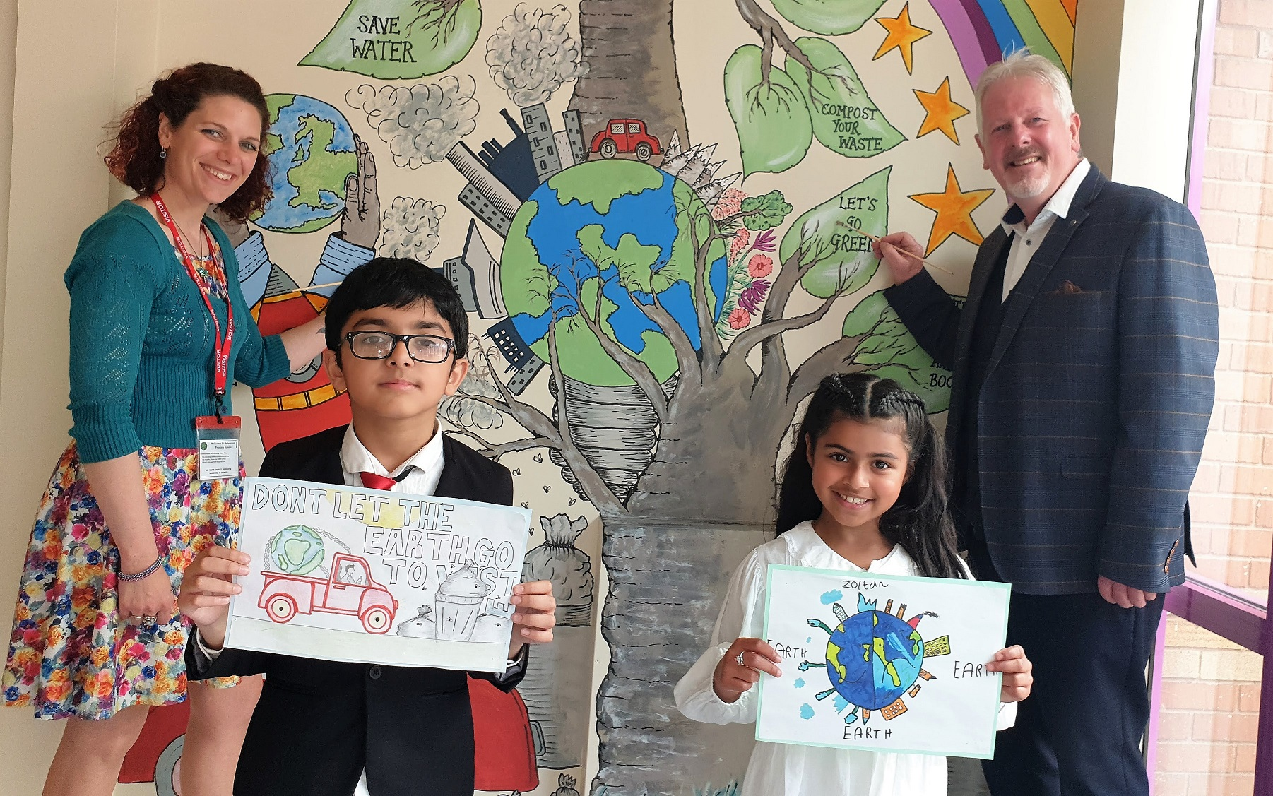 Derby pupils sing and sign their thanks as part of their work to help save the planet