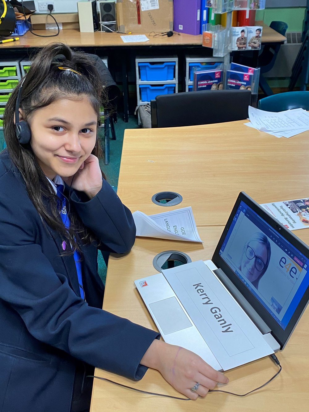 Murray Park pupils talk future plans with Derby business leaders in virtual mock interviews