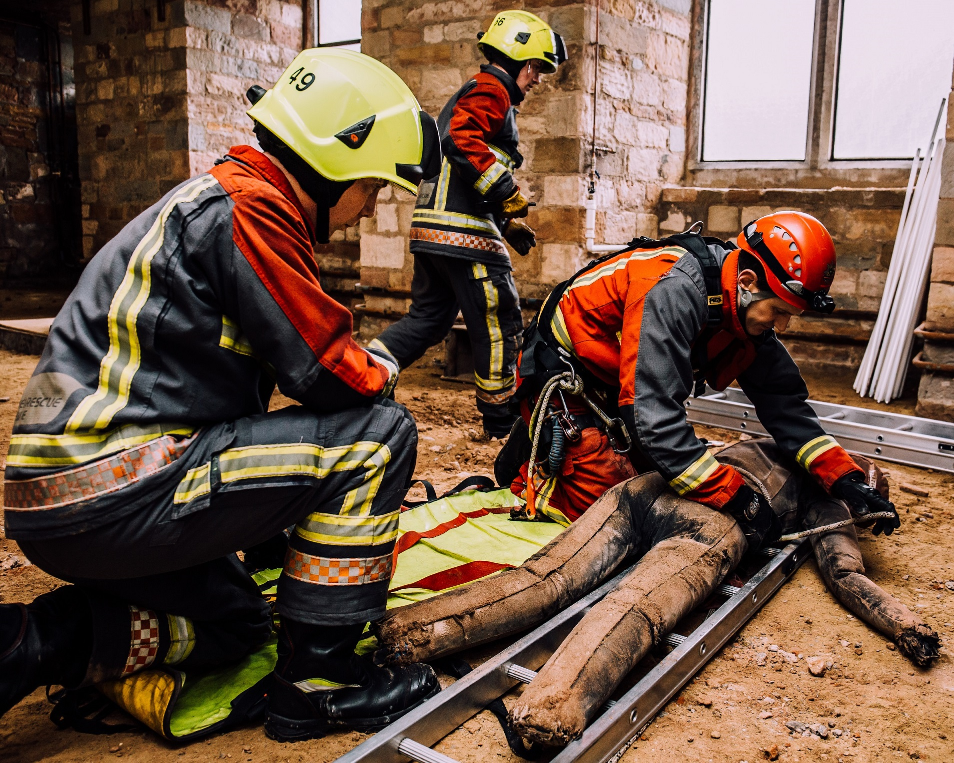 From high in the sky to underground – G F Tomlinson supports firefighters with rescue training across Nottingham