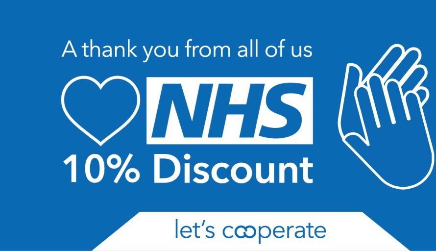 Central England Co-op says 'thank you' to all NHS workers by giving them 10% discount and priority access